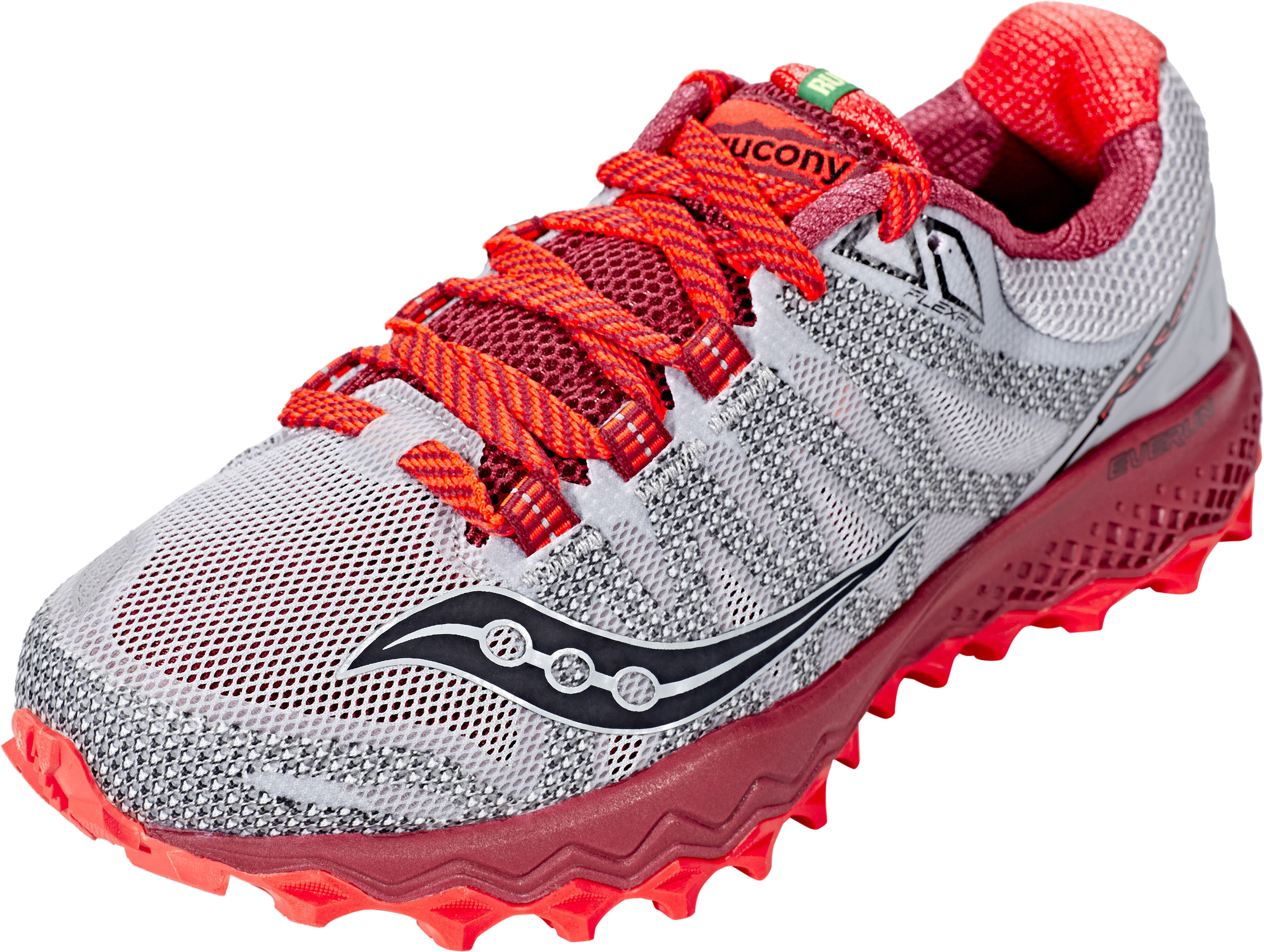 saucony Peregrine 7 Running Shoes Women grey red at Bikester.co.uk a2e5ac21ba9